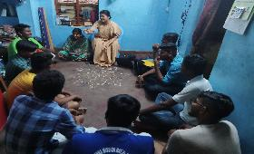 Focused Group Discussion on Community issues discussed with young people in Kodambakkam, Chennai
